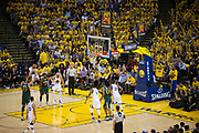 Utah Jazz center Rudy Gobert (27) shoots a free throw against the Golden State Warriors during Game 1 of the Western Conference Semifinals at Oracle Arena in Oakland, Calif., on May 2, 2017. (Stan Olszewski/Special to S.F. Examiner)