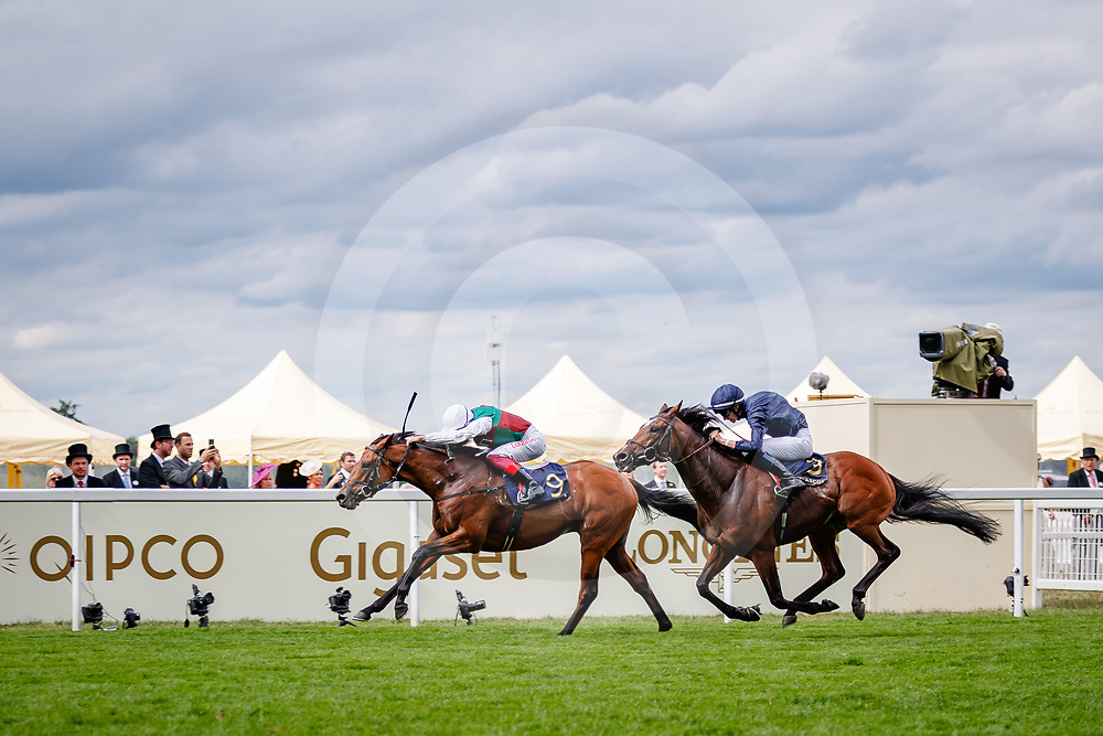 Without Parole (Frankie Dettori) wins The St Jame's Palace Stakes Gr.1 at Royal Ascot, 19/06/2018, photo: Zuzanna Lupa