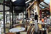 France, Paris, Typical outdoor cafe