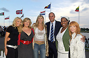 Eton, GREAT BRITAIN, Sir Steve REDGRAVE, poses with other celebs left to right Alex LOVELL, Michele McMANUS, Sharron DAVIES, Sir Steve REDGRAVE, Alison HAMMOND, attending the opening of the 2006 World Rowing Championships, at Dorney lake. 19/08/2006.  Photo  Patrick White, © Intersport Images,  Tel +44 [0] 7973 819 551,  email images@intersport-images.com , Rowing Courses, Dorney Lake, Eton. ENGLAND