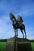 "Image of General Thomas ""Stonewall"" Jackson statue at Manassas National Battlefield Park, Virginia, east coast by Randy Wells"