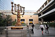 Israel, Ben-Gurion international Airport, Terminal 3, Gilded Menorah By Salvador Dali