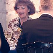NLD/Leiden/20190404 - Margriet bij galadiner van 'The Netherlands America Foundation', Prinses Margriet aan tafel