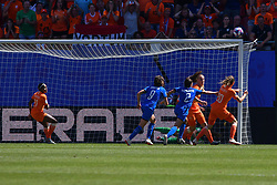 June 30, 2019 - Valenciennes, France - Ball touch the post as Dominique Blooworth (NED) try to score during the quarter-final between in ITALY and NETHERLANDS the 2019 women's football World cup at Stade du Hainaut, on the 29 June 2019. (Credit Image: © Julien Mattia/NurPhoto via ZUMA Press)
