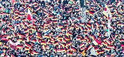 01.01.2015, Olympiaschanze, Garmisch Partenkirchen, GER, FIS Ski Sprung Weltcup, 63. Vierschanzentournee, Bewerb, im Bild Feature Zuschauer Deutschland Fahnen // during Competition Round of 63rd Four Hills Tournament of FIS Ski Jumping World Cup at the Olympiaschanze, Garmisch Partenkirchen, Germany on 2015/01/01. EXPA Pictures © 2015, PhotoCredit: EXPA/ JFK
