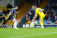 AFC Wimbledon attacker Marcus Forss (15) about to score during the EFL Sky Bet League 1 match between Southend United and AFC Wimbledon at Roots Hall, Southend, England on 12 October 2019.