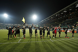 squad of NAC Breda during the Dutch Eredivisie match between ADO Den Haag and NAC Breda at Cars Jeans stadium on March 10, 2018 in The Hague, The Netherlands