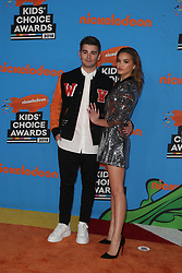 INGLEWOOD, CA - MARCH 24: Mel B. attends Nickelodeon's 2018 Kids' Choice Awards at The Forum on March 24, 2018 in Inglewood, California. Credit: Faye Sadou / MediaPunch. 24 Mar 2018 Pictured: Jack Griffo. Photo credit: FS/MPI/Capital Pictures / MEGA TheMegaAgency.com +1 888 505 6342