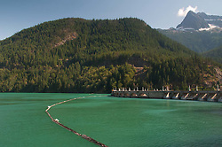 Diablo Dam at Diablo Lake, North Cascades National Park, Washington, US