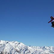 Paul Dreher, Austria, in action during the Snowboard Slopestyle Men's  competition at Snow Park, New Zealand during the Winter Games. Wanaka, New Zealand, 21st August 2011. Photo Tim Clayton