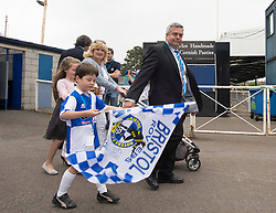 Bristol Rovers Chairman Nick Higgs makes his way into  The Memorial Stadium.  - Photo mandatory by-line: Alex James/JMP - Mobile: 07966 386802 - 25/05/2015 - SPORT - Football - Bristol - Memorial Stadium -    Bristol Rovers Bus Tour