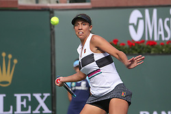 March 9, 2019 - Indian Wells, CA, U.S. - INDIAN WELLS, CA - MARCH 09: Madison Keys (USA) hits a forehand during the BNP Paribas Open on March 9, 2019 at Indian Wells Tennis Garden in Indian Wells, CA. (Photo by George Walker/Icon Sportswire) (Credit Image: © George Walker/Icon SMI via ZUMA Press)