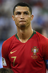 June 25, 2018 - Saransk, Russia - Cristiano Ronaldo of Portugal pictured during the 2018 FIFA World Cup Group B match between Iran and Portugal at Mordovia Arena in Saransk, Russia on June 25, 2018  (Credit Image: © Andrew Surma/NurPhoto via ZUMA Press)