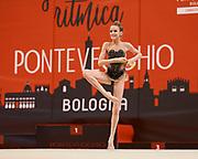 Greta Evangelisti from Pontevecchio team during the Italian Rhythmic Gymnastics Championship in Bologna, 9 February 2019. Pontevecchio by Bologna is the organizer of this event.