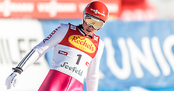 30.01.2016, Casino Arena, Seefeld, AUT, FIS Weltcup Nordische Kombination, Seefeld Triple, Skisprung, Wertungssprung, im Bild Eric Frenzel (GER) // Eric Frenzel of Germany reacts after his Competition Jump of Skijumping of the FIS Nordic Combined World Cup Seefeld Triple at the Casino Arena in Seefeld, Austria on 2016/01/30. EXPA Pictures © 2016, PhotoCredit: EXPA/ JFK