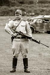 Soviet 699th Separate Battalion with 7.62 mm Degtyarev M-27 Light Machine Gun -  Nww2A Fort Paull<br /> <br />  Copyright Paul David Drabble<br /> 5th & 6th May 2019<br />  www.pauldaviddrabble.co.uk
