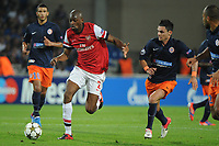 FOOTBALL - UEFA CHAMPIONS LEAGUE 2012/2013 - GROUP STAGE - GROUP B - MONTPELLIER HSC v ARSENAL - 18/09/2012 - PHOTO SYLVAIN THOMAS / DPPI - ABOU DIABY (ARS) / REMY CABELLA (MHSC)