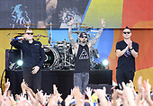 """Blink 182 Performs On ABC's """"Good Morning America"""""""
