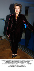 KOO STARK at a party in London on 3rd February 2004.PRI 35