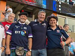 June 16, 2018 - Houston, Texas, US - USA and Scotland fans at the Emirates Summer Series 2018 match between USA Men's Team vs Scotland Men's Team at BBVA Compass Stadium, Houston, Texas (Credit Image: © Maria Lysaker via ZUMA Wire)