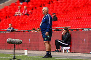 Chertsey Town Manager Dave Anderson during the FA Vase final match between Chertsey Town and Cray Valley at Wembley Stadium, London, England on 19 May 2019.