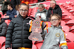 Newport County fans before the FA Cup fourth round match at Riverside Stadium, Middlesbrough.