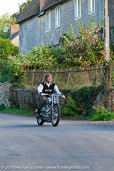 Dr. George Cohen (Norton George) riding one of his Nortons near his home - workshop in Somerset, England. Monday September 12, 2011. Photography ©2011 Michael Lichter. (RIP George Cohen 5/27/16)