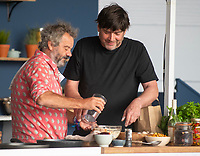 Mark Hix & Alex James  at the Big Feastival 2021 on Alex James Cotswolds farm, Kingham oxfordshire
