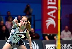 Jess Hopton of Bristol Jets in action  - Photo mandatory by-line: Robbie Stephenson/JMP - 07/11/2016 - BADMINTON - University of Derby - Derby, England - Team Derby v Bristol Jets - AJ Bell National Badminton League