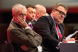 © Licensed to London News Pictures . 27/09/2015 . Brighton , UK . JEREMY CORBYN , IAIN McNICOL and TOM WATSON at the 2015 Labour Party Conference . Photo credit : Joel Goodman/LNP