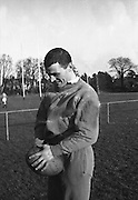 Irish Rugby Football Union,  Five Nations,Irish team practice before Scottish game, Dublin, Ireland, 25th February, 1966,.25.2.1966, 2.25.1966,  Irish Rugby Football Union, Ireland v Scotland, Five Nations, Landsdowne Road, Dublin, Ireland, Saturday 26th February, 1966,.26.2.1966, 2.26.1966,..Referee- D M Hughes, Welsh Rugby Football Union, ..Score- Ireland 3 - 11 Scotland, ..Irish Team, ..T J Kiernan,  Wearing number 15 Irish jersey, Full Back, Cork Constitution Rugby Football Club, Cork, Ireland,..W R Hunter, Wearing number 14 Irish jersey, Right Wing, C I Y M S Rugby Football Club, Belfast, Northern Ireland, ..M K Flynn, Wearing number 13 Irish jersey, Right Centre, Wanderers Rugby Football Club, Dublin, Ireland, ..J C Walsh,  Wearing number 12 Irish jersey, Left Centre, Sundays Well Rugby Football Club, Cork, Ireland, ..P J McGrath,  Wearing number 11 Irish jersey, Left Wing, University college Cork Rugby Football Club, Cork, Ireland,  ..C M H Gibson, Wearing number 10 Irish jersey, Stand Off, Cambridge University Rugby Football Club, Cambridge, England, and, N.I.F.C, Rugby Football Club, Belfast, Northern Ireland, ..R M Young, Wearing number 9 Irish jersey, Scrum Half, Queens University Rugby Football Club, Belfast, Northern Ireland,..R A Lamont, Wearing number 8 Irish jersey, Forward, Instonians Rugby Football Club, Belfast, Northern Ireland, ..M G Doyle, Wearing number 7 Irish jersey, Forward, Cambridge University Rugby Football Club, Cambridge, England,..N Murphy, Wearing number 6 Irish jersey, Forward, Cork Constitution Rugby Football Club, Cork, Ireland,..O C Waldron, Wearing number 5 Irish jersey, Forward, Oxford University Rugby Footabll Club, Oxford, England, ..W J McBride, Wearing number 4 Irish jersey, Forward, Ballymena Rugby Football Club, Antrim, Northern Ireland,..R J McLoughlin, Wearing number 3 Irish jersey, Captain of the Irish team, Forward, Gosforth Rugby Football Club, Newcastle, England, ..K W Kennedy, Wearing number 2 Irish jersey, Forward