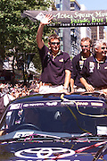 Dean Barker, Queen street ticker tape parade for Team New Zealand, winners of the America's Cup 2000