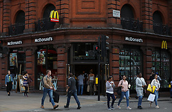 A general view of a McDonald's restaurant in Oxford street, London. Picture dated: Thursday September 13, 2018. Photo credit should read: Isabel Infantes / EMPICS Entertainment.