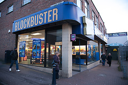 © London News Pictures. 16/01/2013. Maidstone, Kent. DVD rental firm Blockbuster has become the latest UK High Street firm to go into administration after struggling against internet competitors..The chain has 528 stores and employs 4,190 staff. . Picture credit should read Manu Palomeque/LNP