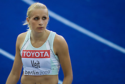 Sabina Veit of Slovenia competes during the women's 200m Heats during day five of the 12th IAAF World Athletics Championships at the Olympic Stadium on August 19, 2009 in Berlin, Germany. (Photo by Vid Ponikvar / Sportida)