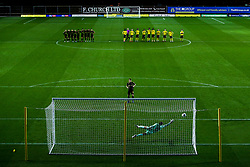 Cameron Hargreaves of Bristol Rovers scores his penalty in the shootout - Mandatory by-line: Robbie Stephenson/JMP - 06/10/2020 - FOOTBALL - Kassam Stadium - Oxford, England - Oxford United v Bristol Rovers - Leasing.com Trophy