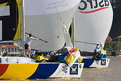 2008 Monsoon Cup. First round robins, Ben Ainslie leading Sebastien Col(Wednesday 3rd December 2008). .