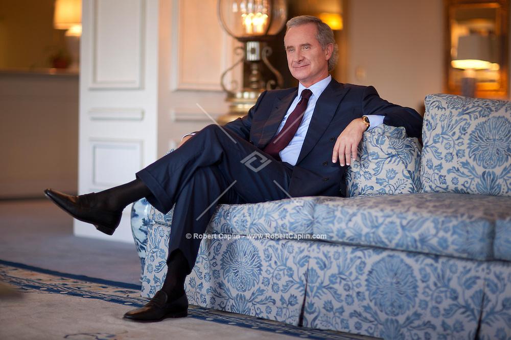 Fabrizio Freda, CEO of Estee Lauder, in New York. ..Photo by Robert Caplin