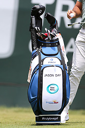 June 24, 2018 - Cromwell, Connecticut, United States - Jason Day's golf bag on the first tee during the final round of the Travelers Championship at TPC River Highlands. (Credit Image: © Debby Wong via ZUMA Wire)