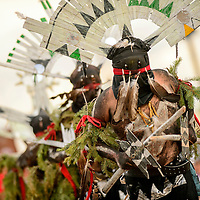 080615  Adron Gardner/Independent<br /> <br /> Apache Crown dancers assemble for a dance at the McKinley County Courthouse in Gallup Thursday.