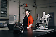 """ORONO,ME 2/2/17 1:38:59 PM <br /> Jacquelyn Gill, an assistant professor at the University of Maine, will attend a gathering to train scientists to run for office next month in Washington D.C..  Gill, who teaches in the School of Biology and Ecology as well as the Climate Change Institute at the University of Maine, is photographed in the fossil and sediment lab on campus in Orono, Maine, on Thursday, February 2, 2017.  """"When you have explicitly anti-science administration you can't be passive,"""" Gill said of her decision to look into politics. <br /> Sarah Rice for The New York Times"""