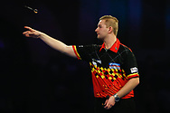 Dimitri Van den Bergh during the Darts World Championship 2018 at Alexandra Palace, London, United Kingdom on 18 December 2018.