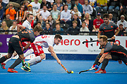 England's Phil Roper. England v The Netherlands - Semi Final - Hockey World League Semi Final, Lee Valley Hockey and Tennis Centre, London, United Kingdom on 24 June 2017. Photo: Simon Parker