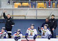 Ishockey , Get - ligaen ,<br /> Semifinale 2 <br /> 18.03.2011 <br /> Kristins Hall<br /> Lillehammer I.K  v  Sparta Sarpsborg  5-1<br /> Foto:Dagfinn Limoseth  -  Digitalsport<br /> Lenny Eriksson  og Sjur Robert Nilsen , Sparta