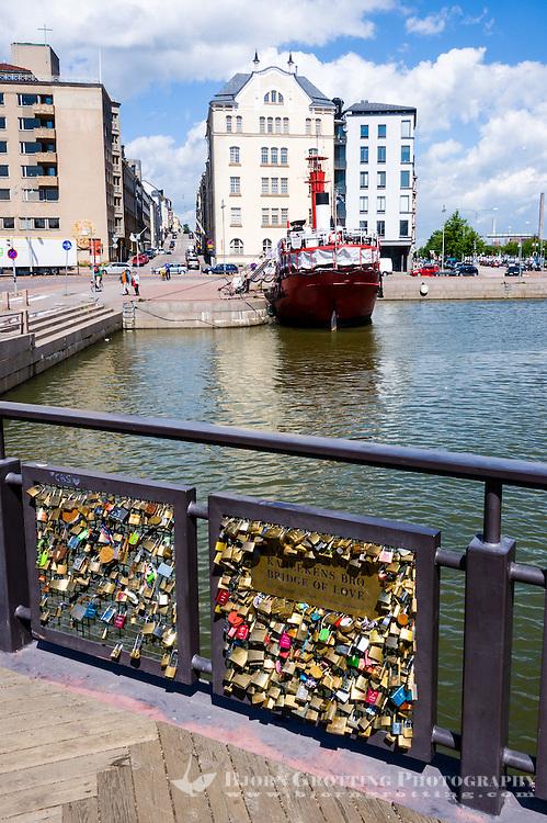 Finland, Helsinki. Bridge of Love.
