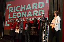 Pictured: Monica Lennon, MSP<br /> <br /> The Scottish Labour leadership candidate Richard Leonard visited Stirling tonight for a rally supported by  members from across the Labour and trades union movement including Monica Lennon MSP, Neil Findlay MSP, Claudia Beamish MSP, Rhoda Grant MSP, Danielle Rowley MP, Hugh Gaffney MP, and comedian Susan Morrison<br /> <br /> Ger Harley | EEm 30 October 2017