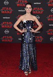"©AXELLE/BAUER-GRIFFIN.COM World Premiere of ""Star Wars: The Last Jedi"". Shrine Auditorium, Los Angeles, CA. EVENT December 9, 2017. 09 Dec 2017 Pictured: Daisy Ridley. Photo credit: AXELLE/BAUER-GRIFFIN/MEGA TheMegaAgency.com +1 888 505 6342"