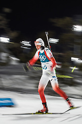 February 12, 2018 - Pyeongchang, Gangwon, South Korea - Monika Hojnisz of Poland competing at Women's 10km Pursuit, Biathlon, at olympics at Alpensia biathlon stadium, Pyeongchang, South Korea. on February 12, 2018. (Credit Image: © Ulrik Pedersen/NurPhoto via ZUMA Press)