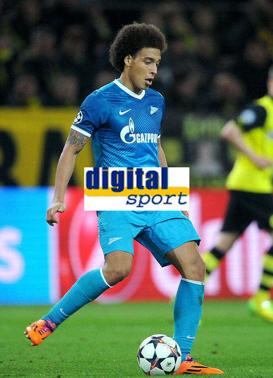 Fotball<br /> Tyskland<br /> 19.03.2014<br /> Foto: Witters/Digitalsport<br /> NORWAY ONLY<br /> <br /> Axel Witsel (Zenit)<br /> Fussball, Champions League, Achtelfinale Rueckspiel, Borussia Dortmund - Zenit St. Petersburg 1:2