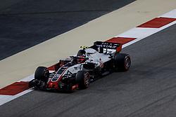 April 7, 2018 - Sakhir, Kingdom of Bahrain - KEVIN MAGNUSSEN of Haas F1 Team drives during the 2018 FIA Formula 1 Bahrain Grand Prix qualifying session at Bahrain International Circuit in Sakhir, Kingdom of Bahrain. (Credit Image: © James Gasperotti via ZUMA Wire)